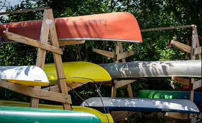 Canoes at the River Revitalization Foundation